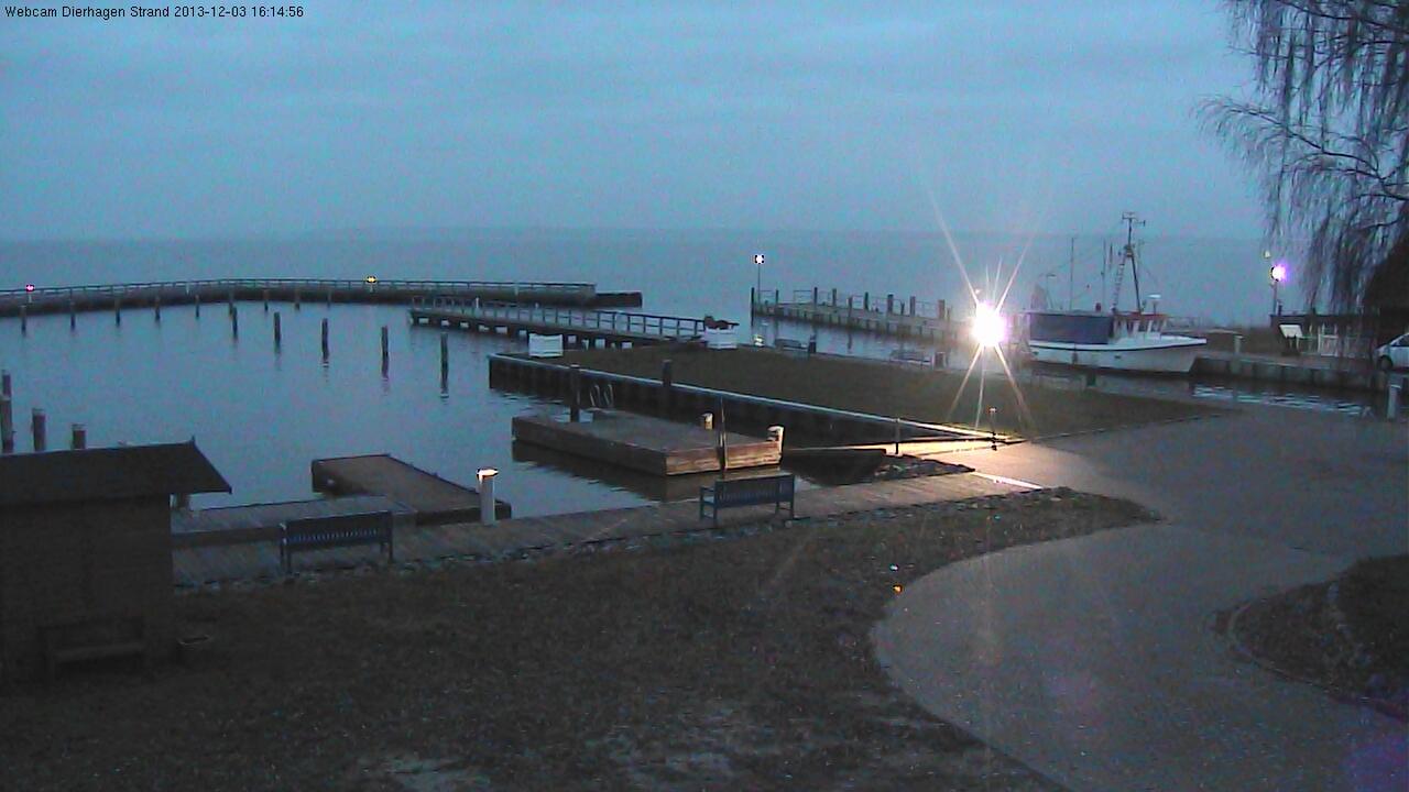 Wetterwebcam vom Hafen in Dierhagen